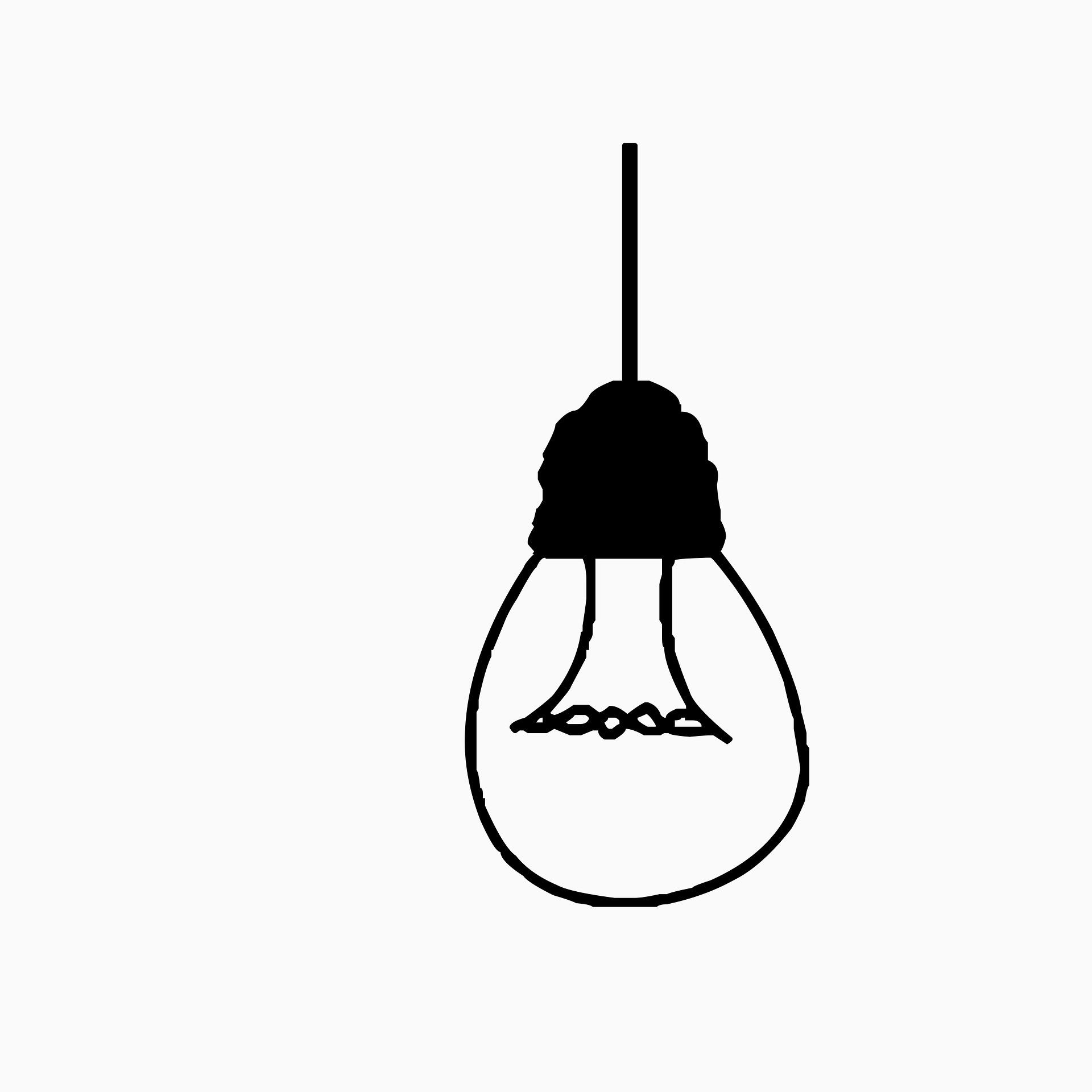en ritad glödlampa
